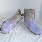 Обувь ручной работы. Ярмарка Мастеров - ручная работа Валенки домашние Сиреневые сны. Handmade.