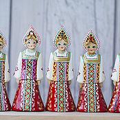 Куклы и игрушки ручной работы. Ярмарка Мастеров - ручная работа Деревянные фигурки Хоровод красавиц. Handmade.