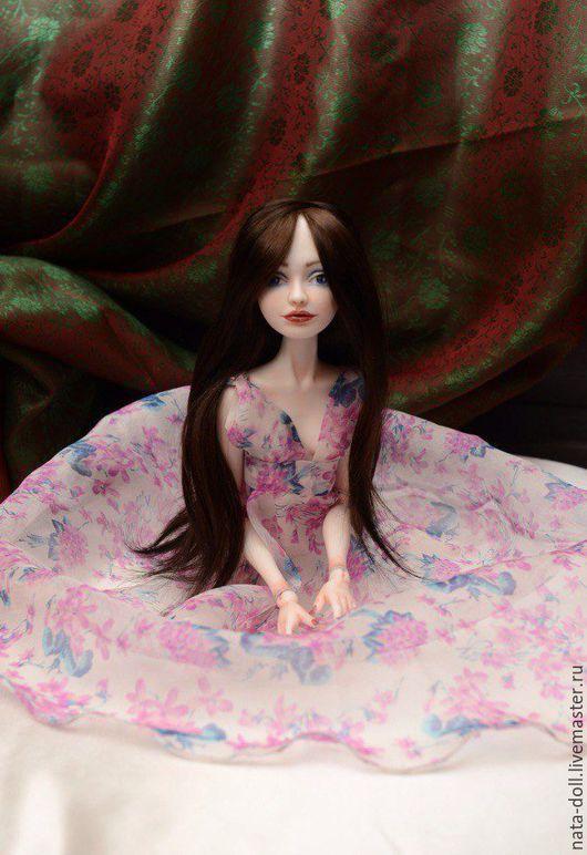 """Коллекционные куклы ручной работы. Ярмарка Мастеров - ручная работа. Купить шарнирная кукла из фарфора """"Алиса"""". Handmade. Синий"""