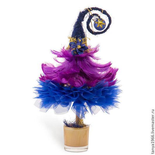 Новый год 2017 ручной работы. Ярмарка Мастеров - ручная работа. Купить Елка новогодняя синяя. Handmade. Синий, елка новогодняя