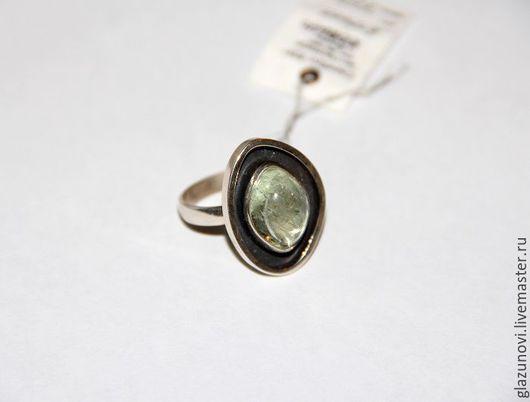 Кольца ручной работы. Ярмарка Мастеров - ручная работа. Купить Серебряное кольцо (925) с бериллом. Handmade. Зеленый, берилл