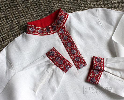 """Для подростков, ручной работы. Ярмарка Мастеров - ручная работа. Купить Косоворотка детская """"Алатырь"""". Handmade. Белый, рубашка для мальчика"""
