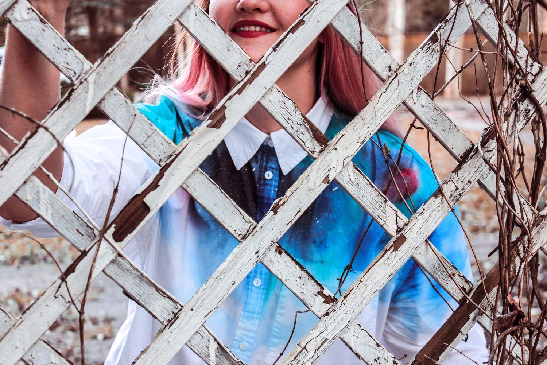 Космическая рубашка с ручной росписью, Рубашки, Москва,  Фото №1