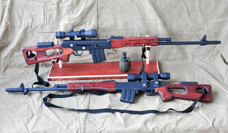 Детская деревянная игрушка для мальчика Снайперская винтовка СВД, Мягкие игрушки, Севастополь,  Фото №1