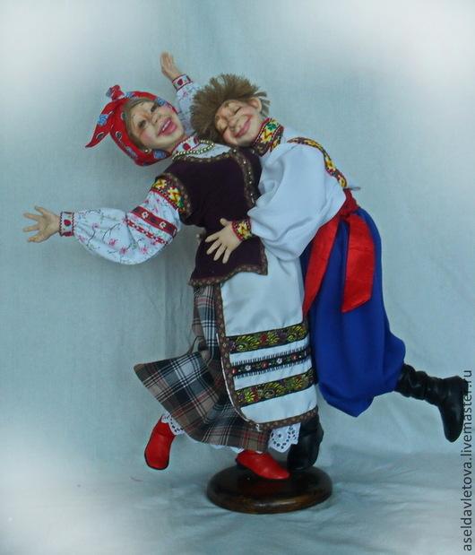 Коллекционные куклы ручной работы. Ярмарка Мастеров - ручная работа. Купить Кум с кумой. Handmade. Авторская ручная работа