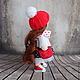 Коллекционные куклы ручной работы. Заказать Иришка, 24см - интерьерная кукла. Светлана Теницкая. Ярмарка Мастеров. Текстильная кукла, горошек