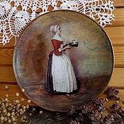 Картины и панно ручной работы. Ярмарка Мастеров - ручная работа Декоративная тарелка Шоколодница. Handmade.