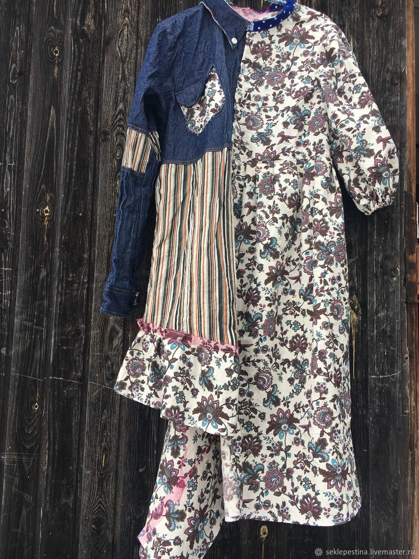 Платье в хлопковых цветах, Платья, Оренбург,  Фото №1