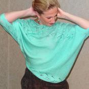 Одежда ручной работы. Ярмарка Мастеров - ручная работа Вязаный пуловер с драпировкой. Handmade.