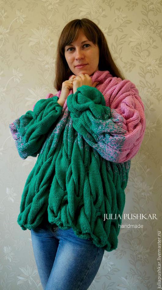 Кофты и свитера ручной работы. Ярмарка Мастеров - ручная работа. Купить Кардиган в стиле Лало.. Handmade. Разноцветный, кардиган женский