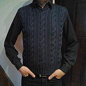 Одежда ручной работы. Ярмарка Мастеров - ручная работа Жилет мужской вязаный. Handmade.