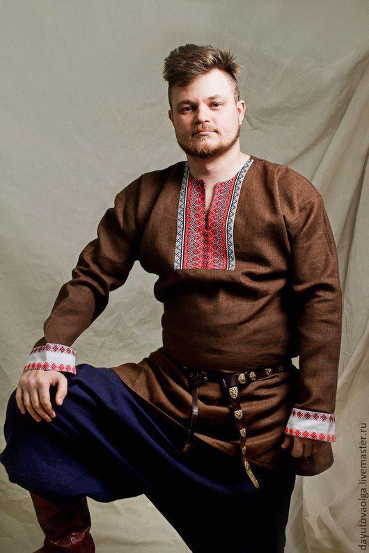 Одежда ручной работы. Ярмарка Мастеров - ручная работа. Купить Рубаха славянская. Handmade. Рубаха в русском стиле, рубаха