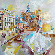 Картины и панно handmade. Livemaster - original item Oil painting Petersburg.A - Petersburg. Handmade.
