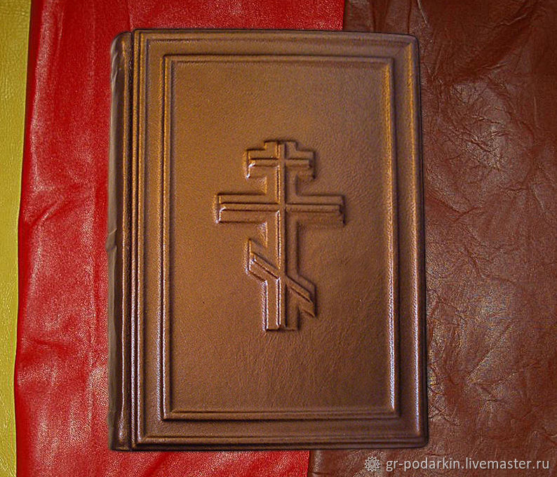 Bible in the cover of genuine leather, Vintage books, Essentuki,  Фото №1