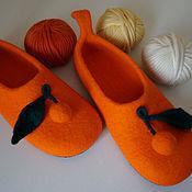 Обувь ручной работы. Ярмарка Мастеров - ручная работа Тапочки Апельсинки. Handmade.