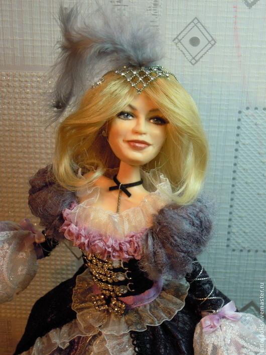 Коллекционные куклы ручной работы. Ярмарка Мастеров - ручная работа. Купить Ирэн, последний штрих к портрету. Handmade. Бледно-сиреневый