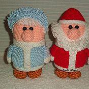 Куклы и игрушки ручной работы. Ярмарка Мастеров - ручная работа Дедушка Мороз и бабушка Снегурочка. Handmade.