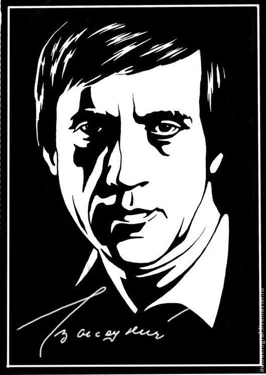 Люди, ручной работы. Ярмарка Мастеров - ручная работа. Купить портрет Высоцкого в стиле поп-арт,покрыт лаком.. Handmade.
