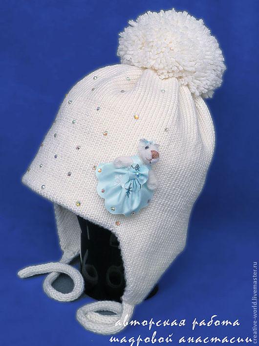 Шапки и шарфы ручной работы. Ярмарка Мастеров - ручная работа. Купить теплая детская шапочка  шик и грация. Handmade. Шапочка