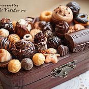 """Для дома и интерьера ручной работы. Ярмарка Мастеров - ручная работа Шкатулка """"Молочный Шоколад"""". Handmade."""