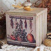 """Для дома и интерьера ручной работы. Ярмарка Мастеров - ручная работа Банка для сыпучих """" Осенний урожай"""". Handmade."""