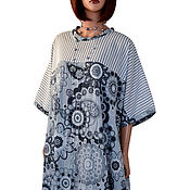 Одежда handmade. Livemaster - original item Long light dress with a loose fit large size. Handmade.