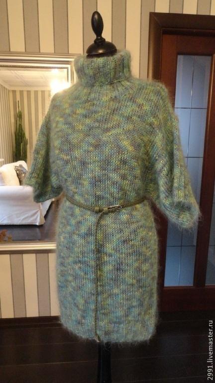 Платья ручной работы. Ярмарка Мастеров - ручная работа. Купить Платье-туника. Handmade. Тёмно-бирюзовый, женское платье