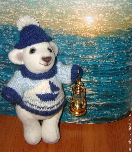 Мишки Тедди ручной работы. Ярмарка Мастеров - ручная работа. Купить Маленький медвежонок - Тедди моряк. Handmade. Белый