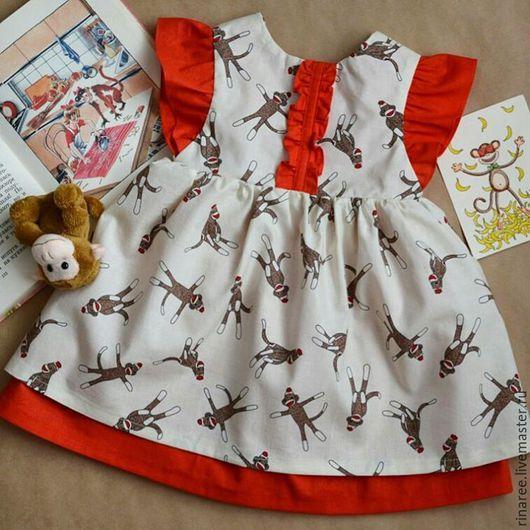 Одежда для девочек, ручной работы. Ярмарка Мастеров - ручная работа. Купить Платье для маленькой кривляки) Детское платье. Handmade. Рисунок