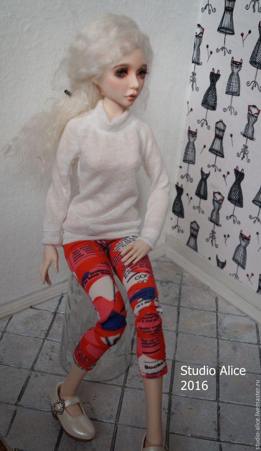 Одежда для кукол ручной работы. Ярмарка Мастеров - ручная работа. Купить Одежда для куклы БЖД (МСД формата) лосины и свитер. Handmade.