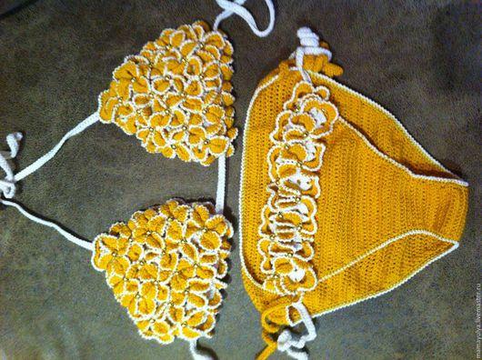 """Раздельные купальники ручной работы. Ярмарка Мастеров - ручная работа. Купить Купальник вязаный  """"Жёлтые тюльпаны"""". Handmade. Желтый"""