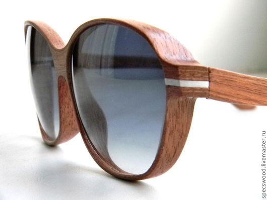 Очки ручной работы. Ярмарка Мастеров - ручная работа. Купить Солнцезащитные очки из дерева Specswood. Handmade. Очки из дерева, махагон