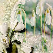 Открытки ручной работы. Ярмарка Мастеров - ручная работа Поздравительная открытка: Пусть в душе всегда поёт Весна. Handmade.