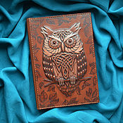 "Канцелярские товары handmade. Livemaster - original item Notebook ""WISE OWL"". Handmade."