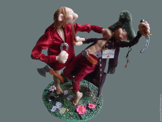 Коллекционные куклы ручной работы. Ярмарка Мастеров - ручная работа. Купить Конфликт интересов. Handmade. Комбинированный, шапка, шерсть