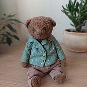 Мишки Тедди ручной работы. Ярмарка Мастеров - ручная работа Мишки Тедди: медведь Томас. Handmade.