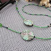 Аксессуары handmade. Livemaster - original item Boomslang eyeglass chain. Handmade.