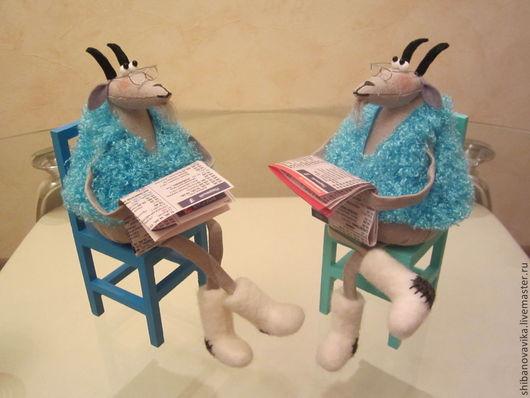 Игрушки животные, ручная работа. Старые козлы.  Автор Шибанова Виктория. Дизайн-студия авторских игрушек `SamiSrukami`. Ярмарка Мастеров.