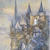 """Картины и панно ручной работы. Ярмарка Мастеров - ручная работа Акварель """"Замок"""". Handmade."""