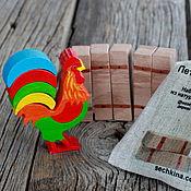 Подарки к праздникам ручной работы. Ярмарка Мастеров - ручная работа Петушок, деревянная игрушка-балансир. Handmade.