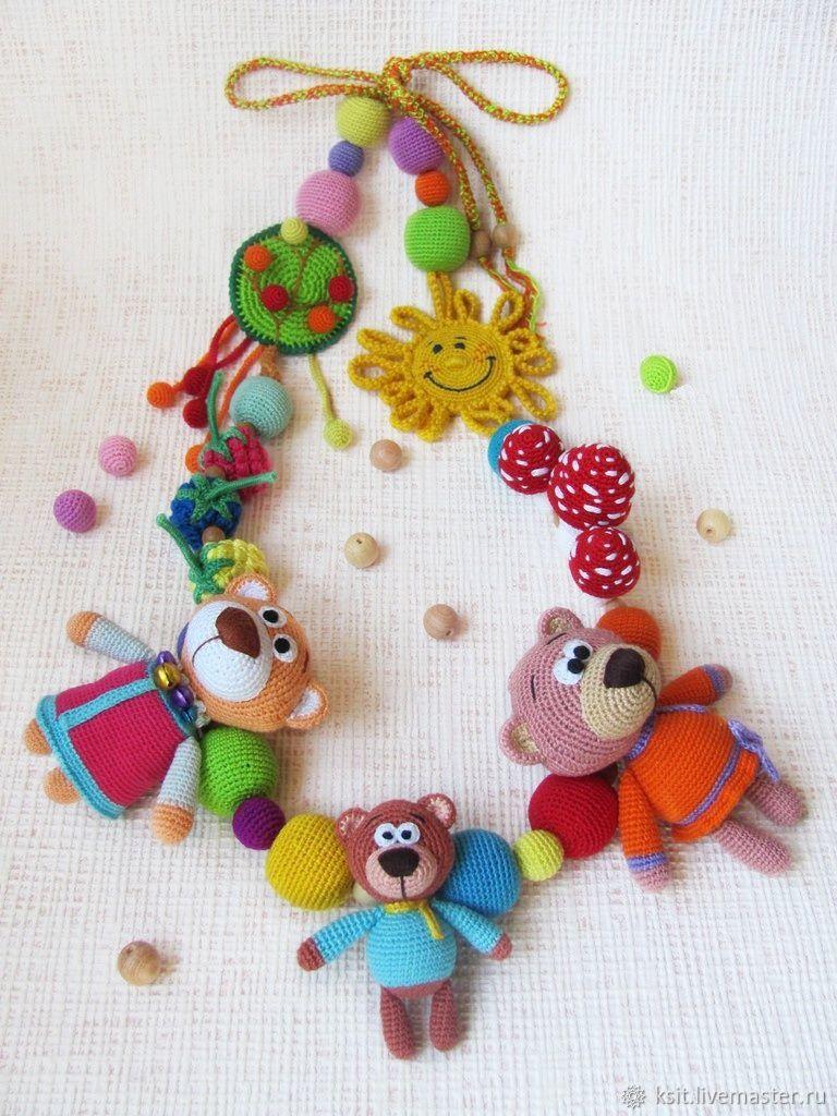 """Слингобусы """"Три медведя"""" растяжка развивающая игрушка, Слингобусы, Майкоп,  Фото №1"""