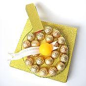 Подарки к праздникам ручной работы. Ярмарка Мастеров - ручная работа Золотая ракетка. Handmade.