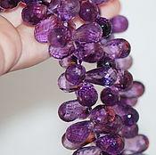 Материалы для творчества ручной работы. Ярмарка Мастеров - ручная работа Бусины аметиста бриолеты пурпурные 12-17+ мм. Handmade.