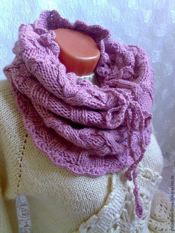 иностранный вяжем шарф снуд с косами фото мк люби будь любимым