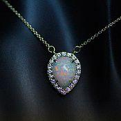 Украшения handmade. Livemaster - original item Aster necklace with opals and diamonds. Handmade.