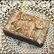 """Для дома и интерьера ручной работы. Ярмарка Мастеров - ручная работа Шкатулочка """"Мастерица"""". Handmade."""