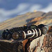 Украшения handmade. Livemaster - original item Bracelet with 2 eye Dzi (old temple) - talisman of love and relationships. Handmade.