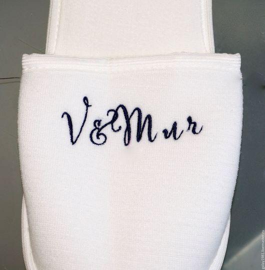 Другие виды рукоделия ручной работы. Ярмарка Мастеров - ручная работа. Купить Вышивка на тапочках.. Handmade. Разноцветный, вышивка на рубашках