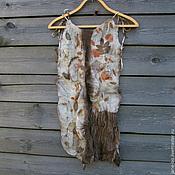 Одежда ручной работы. Ярмарка Мастеров - ручная работа Валяный топ эко принт, нуно-войлок. Handmade.