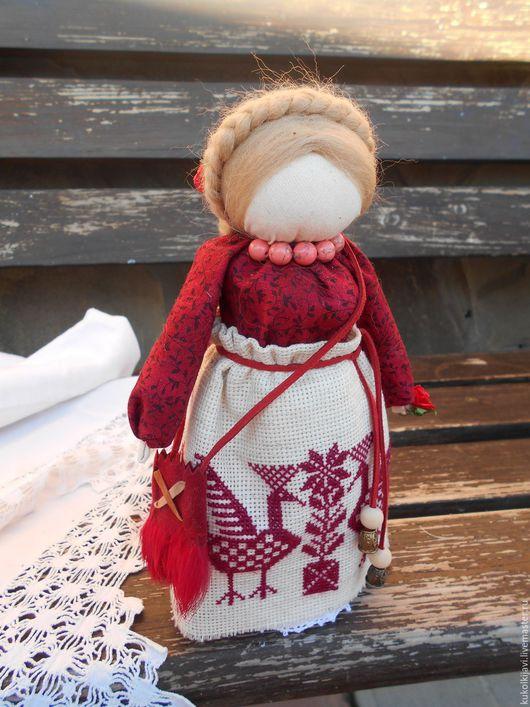 """Народные куклы ручной работы. Ярмарка Мастеров - ручная работа. Купить """"Успешница"""" или """"Богатея"""" Кукла-оберег.. Handmade. Бордовый"""